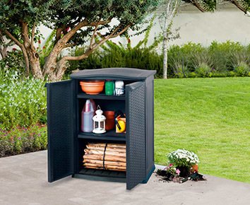 RATTAN STYLE - BASE UTILITY SHED